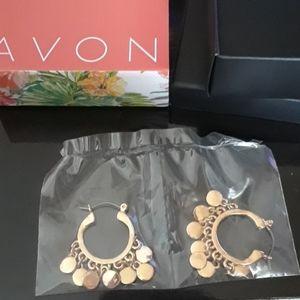 Hoop disc earrings
